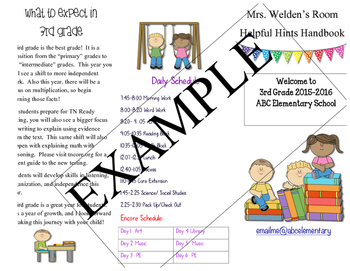 Back to School Classroom Brochure {Editable}