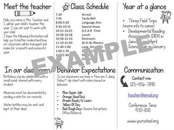 Back to School Classroom Brochure [Editable]