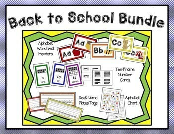 Back to School Classroom Bundle (Rainbow Edition)