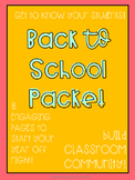 Back to School Classroom Community Packet
