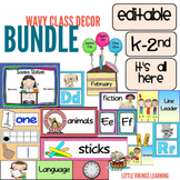 Editable Back to School Wavy Theme Bundle