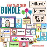 Editable Back to School Wavy Theme Bundle