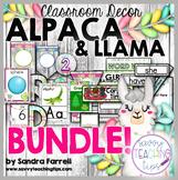 Back to School Classroom Decor ALPACA and LLAMA BUNDLE