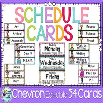 Schedule Cards, Classroom Decor