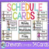 Schedule Cards, Classroom Decor Chevron Classroom Theme