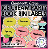 Back to School Classroom Decor ICE CREAM PARTY Book Bin Labels