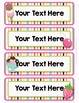 Back to School Classroom Decor ICE CREAM PARTY Editable Files