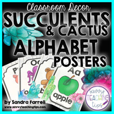 Back to School Classroom Decor SUCCULENTS and CACTUS  Alphabet Posters