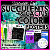 Back to School Classroom Decor SUCCULENTS and CACTUS Color Colour Posters