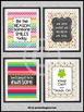 Owl Themed Classroom, Motivational Quote Posters Set Large 8x10 16x20