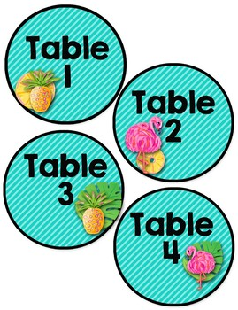Back to School Classroom Decor TROPICAL PARTY Classroom Organization