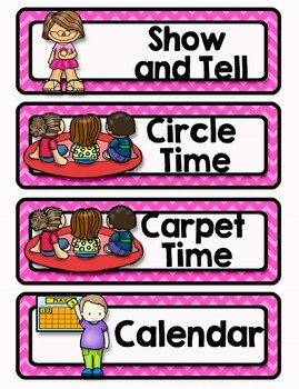 Back to School Classroom Decor TROPICAL PARTY Daily Schedule Cards