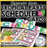 Back to School Classroom Decor TROPICAL PARTY Daily Schedu