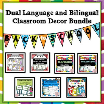Back to School Classroom Decor for Bilingual and Dual Language