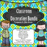 Classroom Decor Bundle (Turquoise and Lime)