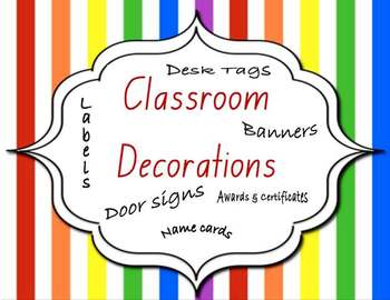 Back to School Classroom Decorations