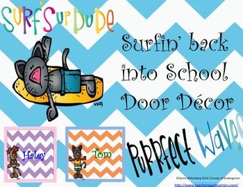 Back to School Classroom Door Decor  & More Surfin Cats