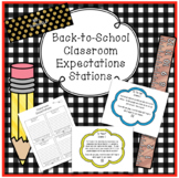Back to School Classroom Expectation Stations