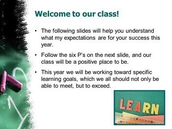 Back to School Class Expectations PowerPoint