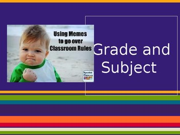 Back to School Classroom Expectations Presentation