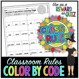 Back to School Classroom Rules & Expectations Color-By-Number