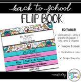 Back to School Classroom Flip-Book
