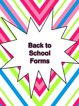 Back to School Classroom Forms