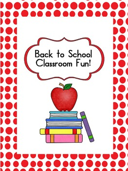 Back to School Activities 2nd and 3rd grade!