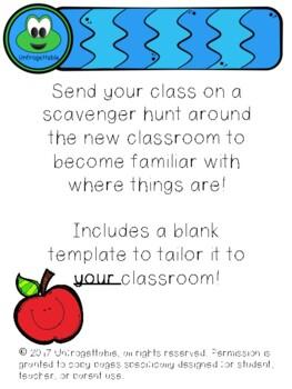 Back to School Classroom Hunt