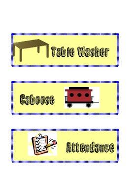 Back to School Classroom Job Posters