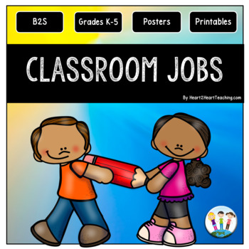 Classroom Jobs Pack with Job Posters and Teacher Checklist