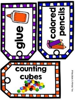 Back to School Classroom Labels {Editable}