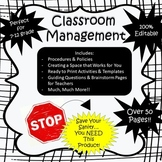 Back to School - Classroom Management Bundle - 100% Editable