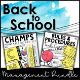 Back to School Classroom Management Bundle