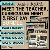 Back to School Meet the Teacher, Curriculum Night, First Day BUNDLE