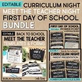Meet the Teacher, Curriculum Night & First Day of School P