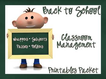 Back to School Classroom Management Printables
