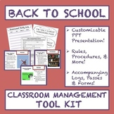Back to School Classroom Management Tool Kit: Presentation, Printables, & MORE!