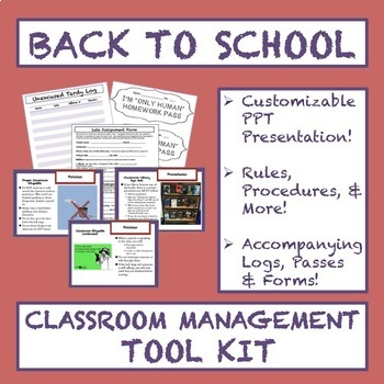 Back to School Classroom Management Tool Kit: Presentation, Printables, & MORE!