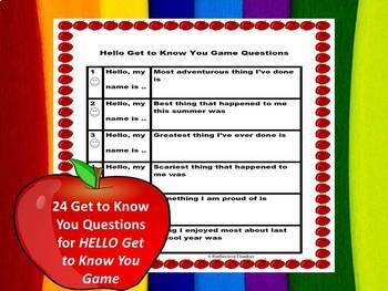 Classroom Management:  Get to Know You Game and Rules and Procedures Game