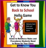 Classroom Management:  Get to Know You Game and Rules and