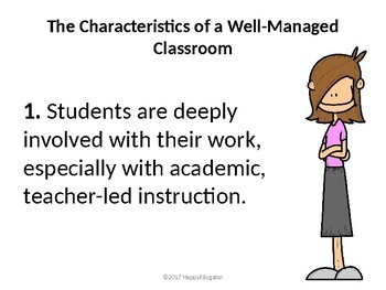 Back to School Classroom Management and Procedures for New Teachers PowerPoint