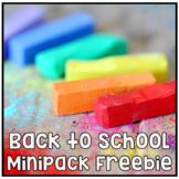 Back to School Classroom Mini Packet - Word Wall Open House Student Info