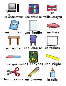 Back to School / La rentrée FRENCH Worksheets