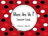 Back to School - Classroom Organization - Location Cards -