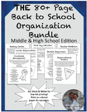 Back to School Classroom Organization & Management BUNDLE