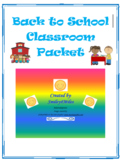 Back to School Classroom Packet