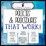 Back to School Classroom Policies and Procedures That Work