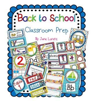 Back to School Classroom Prep