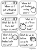 Back to School Classroom Procedure Task Cards